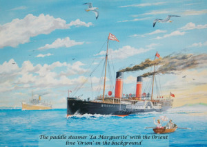 Paddle Steamer La Marguerite & Orient Line Orion