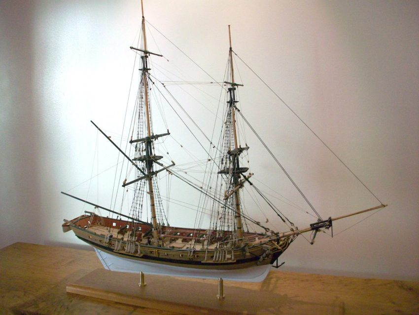 "A model of an 18th century privateer brig, ""Mars"""