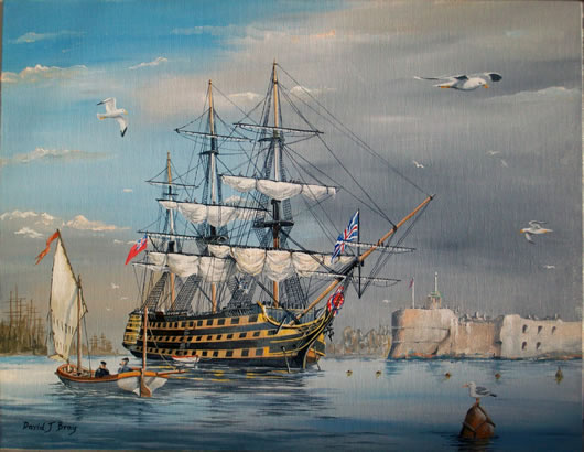Bavid Bray's Painting of HMS Victory