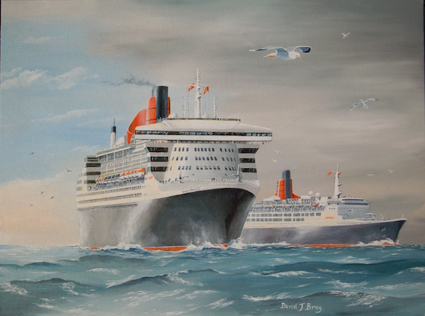Queen Mary 2 and QE2