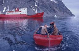 Boat in Antarctica