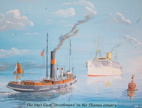 The P&O liner 'Strathmore'