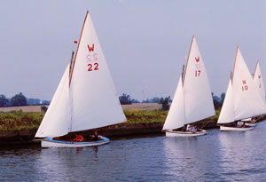 "Waveney 22 ""Myrica"" at Beccles regatta"