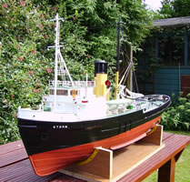 radio-controlled model of a salvage tug