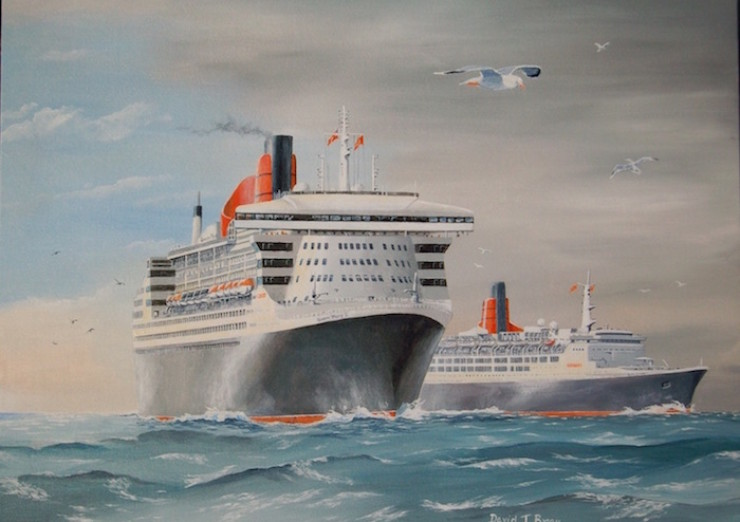 'Queen Mary 2' and 'Queen Elizabeth 2'