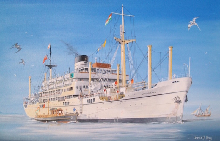 British India liner 'Sirdhana' on the Hooghly River