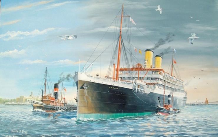 Orient liner 'Otranto' at Tilbury