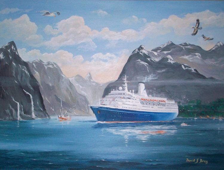 'Marco Polo' in Trollfjord, Norway