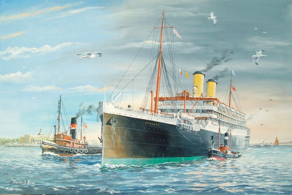 Orient liner 'Otranto' arriving at Tilbury