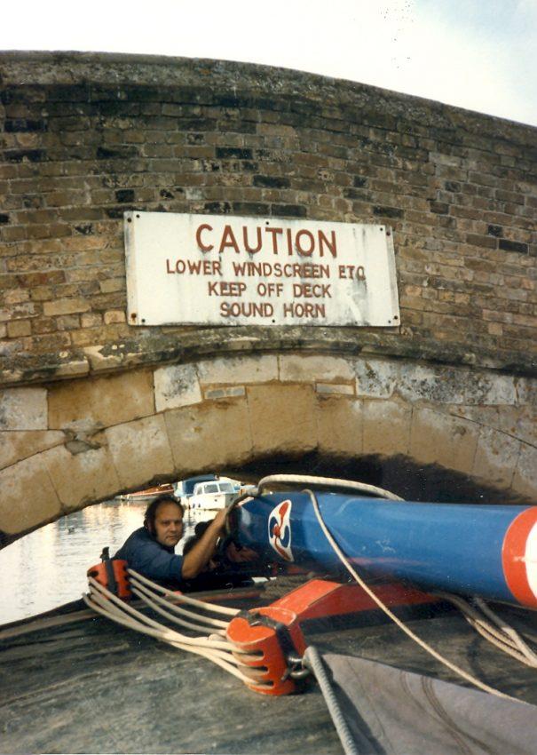 A tight fit under Potter Heigham bridge