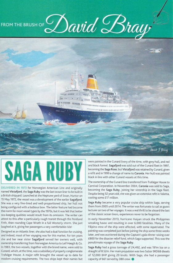 Sea Breezes article - Saga Ruby