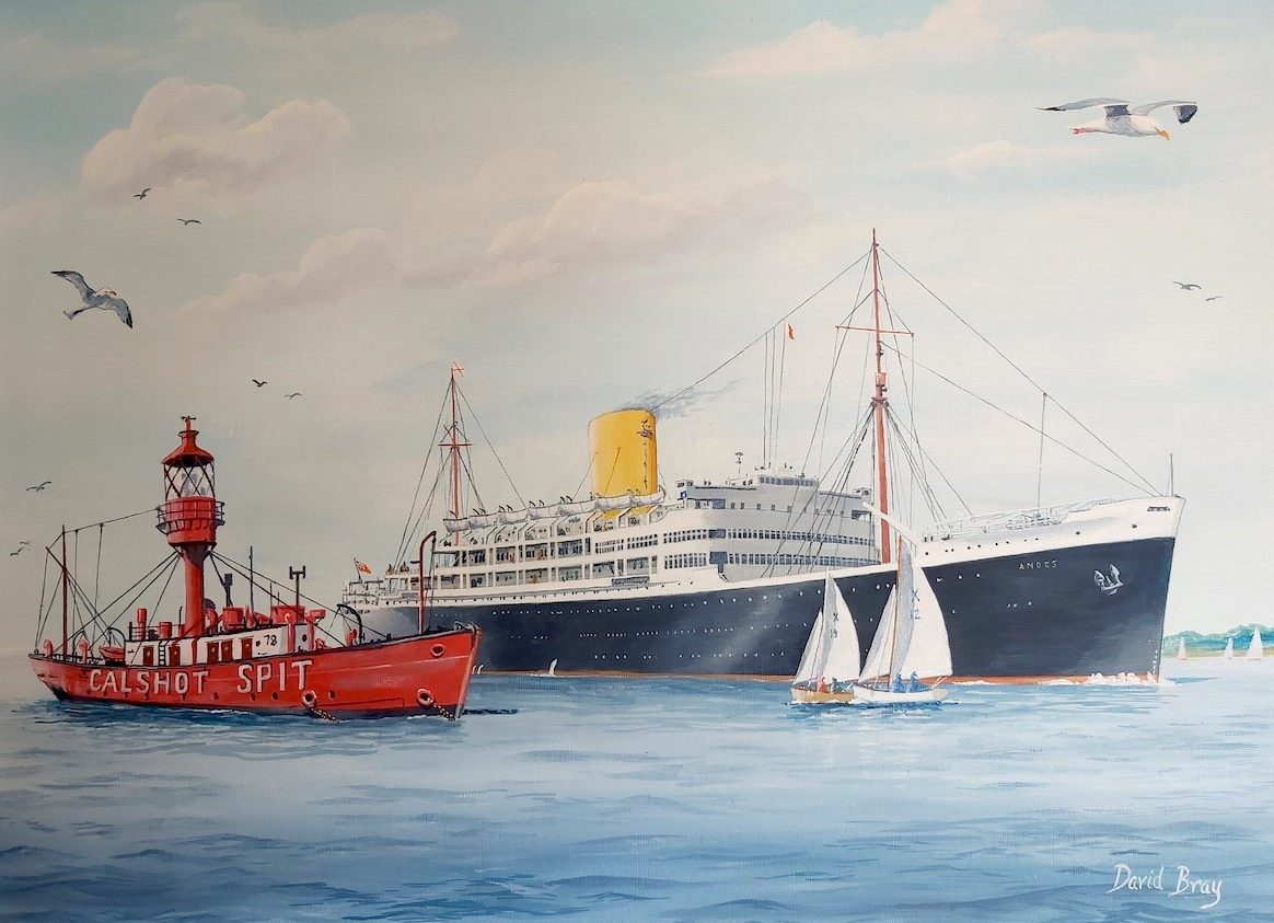 """RMS """"Andes""""- Royal Mail Line"""