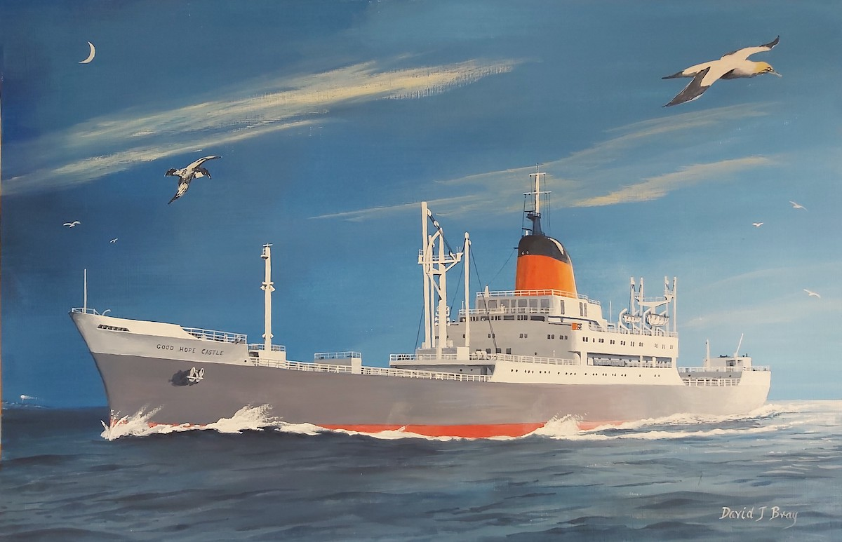 painting of Good Hope Castle ship