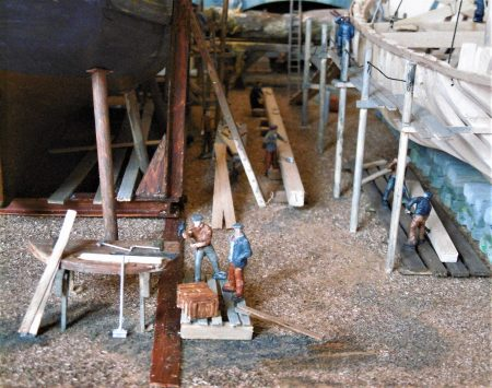 Dandy Score Shipyard model_Shipwrights hard at work